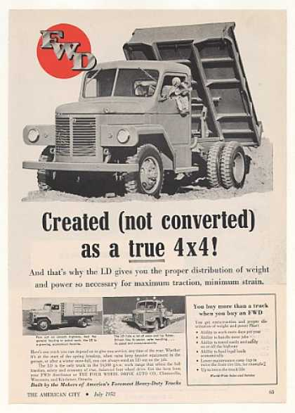 FWD LD 4x4 Dump Truck Photo (1952)