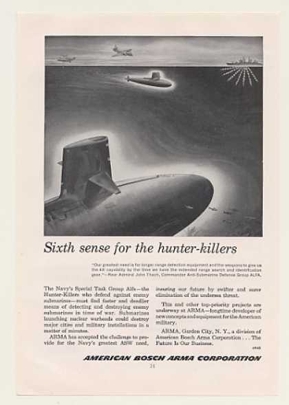 '59 Navy Alfa Sub Hunter-Killers American Bosch Arma (1959)