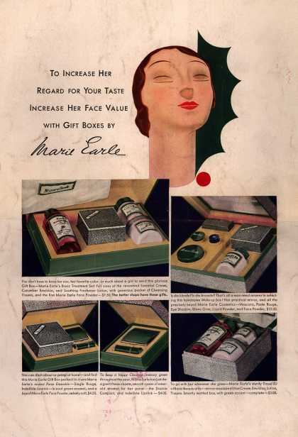 Marie Earle's Gift Boxes – To Increase Her Regard For Your Taste Increase Her Face Value With Gift Boxes By Marie Earle (1932)
