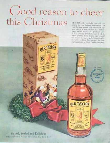 Old Taylor Holiday – National Distillers (1949)