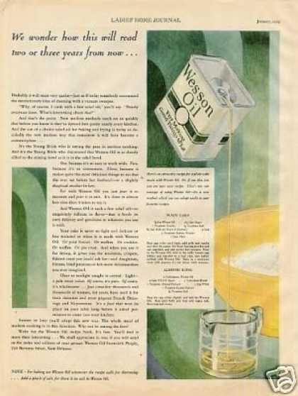 Wesson Oil Color (1929)