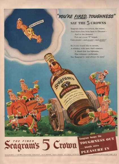 Seagrams 5 Crown Blended Whiskey (1942)