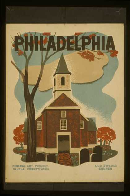 Philadelphia – Old Swedes Church. (1936)