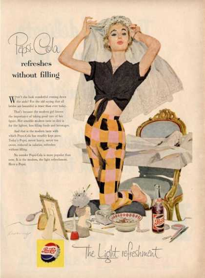 Pepsi Cola Make Up Room Decor Woman Ad T (1955)