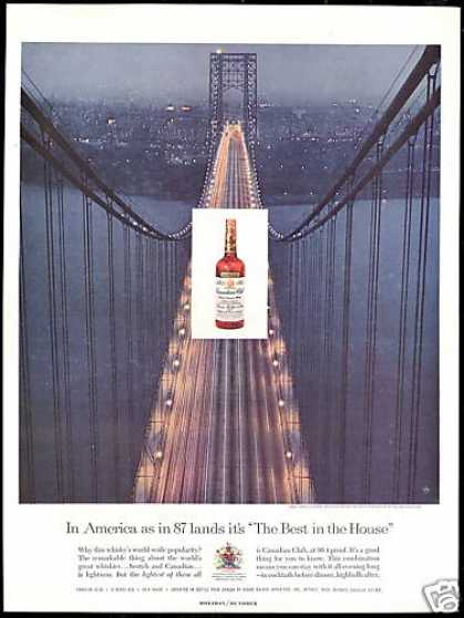 NY George Washington Bridge Canadian Club (1959)