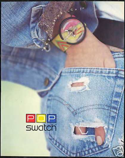 Swatch Pop Watch Photo Jeans (1989)