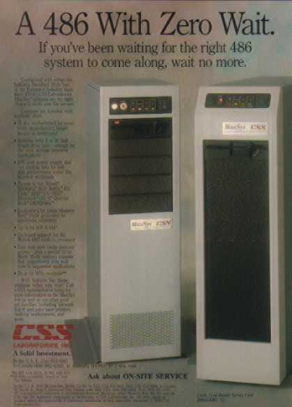 CSS Laboratories Server – 486 with Zero Wait (1990)