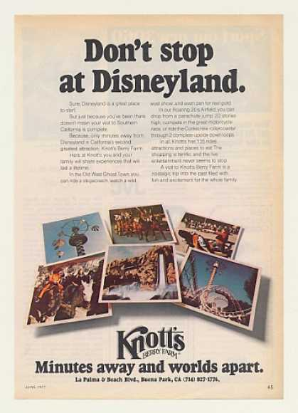 Knott's Berry Farm Don't Stop at Disneyland (1977)