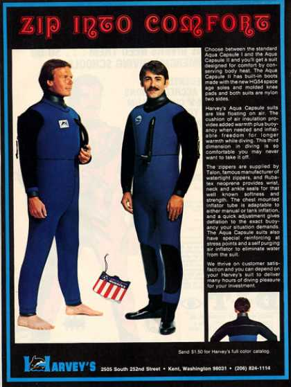 Harvey Diving Aqua Capsule Scuba Diver Suit (1979)