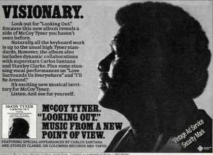 "Mccoy Tyner Photo ""Looking Out"" Album (1982)"