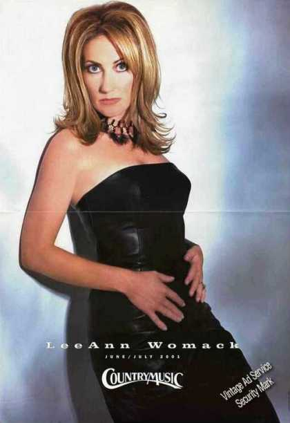 Leeann Womack Large Magazine Foldout Photo (2001)
