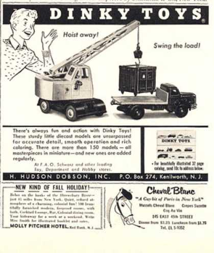 Dinky Toys Crane & Truck Photo (1956)
