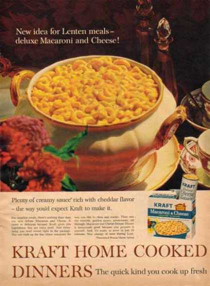 Kraft Macaroni & Cheese Deluxe Dinner (1963)