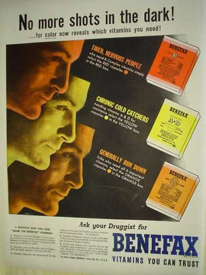 Benefax Vitamins you can trust No more shots in the dark (1943)