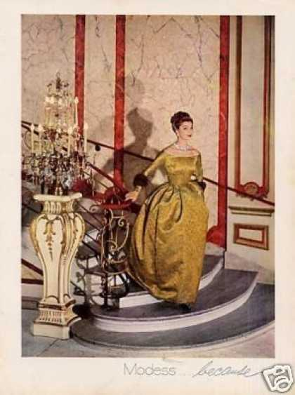 Modess Ad Lady In Gold Gown (1959)