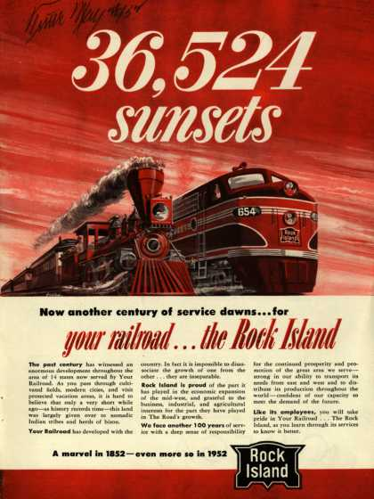 Rock Island Lines – 36,524 sunsets (1952)