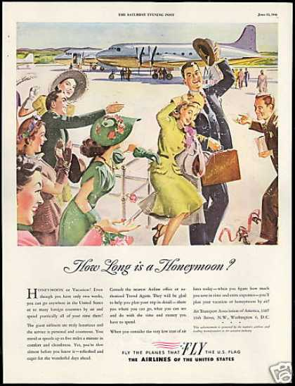 Airlines of The United States Fly Honeymoon (1946)