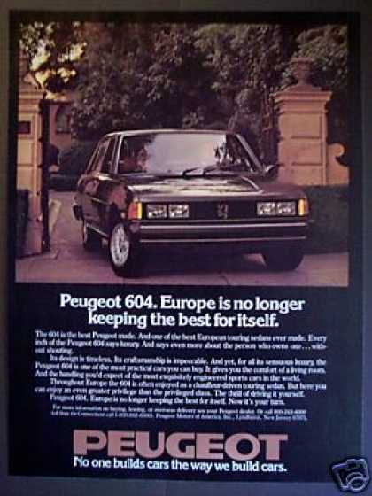 Peugeot 604 Touring Sedan Classic Car (1978)
