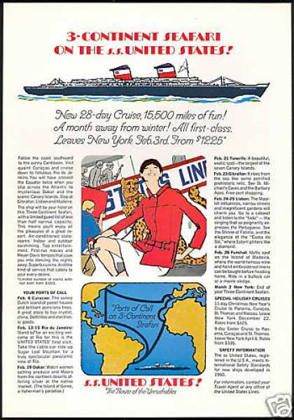 SS S.S United States Cruise Ship Line (1967)
