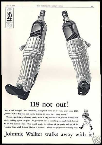 Johnnie Walker Scotch Cricket Game Attire UK (1938)