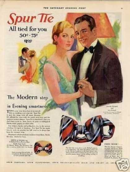 Spur Tie Color Ad Dorothy Mackaill/jack Mulhall (1928)
