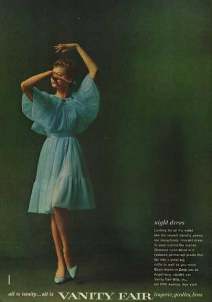 Vanity Fair Blue Night Dress (1962)