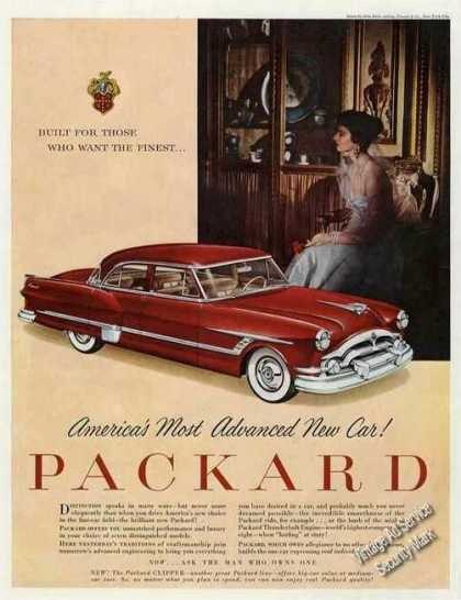 "Red Packard Ad ""America's Most Advanced New Car"" (1953)"