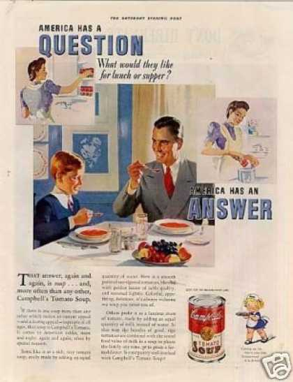 "Campbell's Tomato Soup Ad ""America Has A... (1939)"