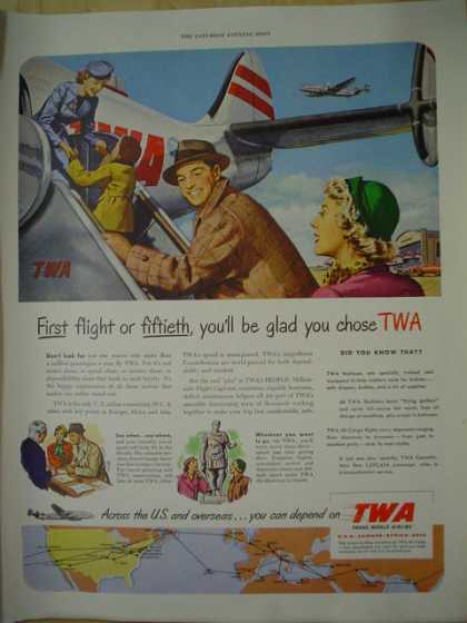 TWA Airlines First or fiftieth you'll be glad you chose TWA (1950)
