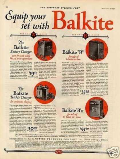 Balkite Radio Power Units Ad 2 Page (1925)