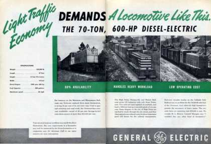 General Electric 600 Hp Diesel Train Rr (1950)