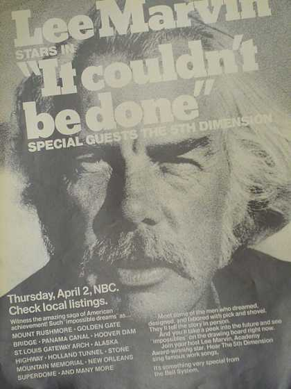 TV Show. Lee Marvin in It couldn't be done. (1970)