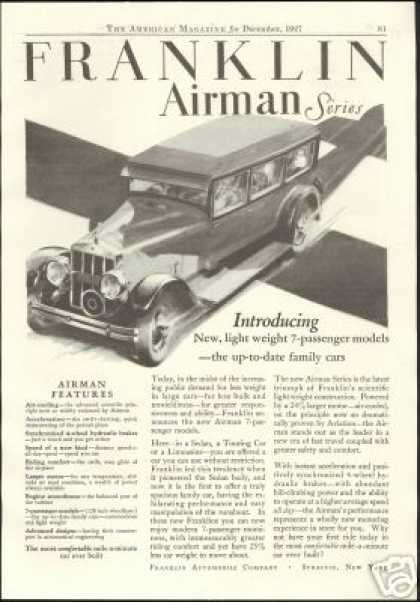 Franklin Airman Series 7 Passenger Car December (1927)