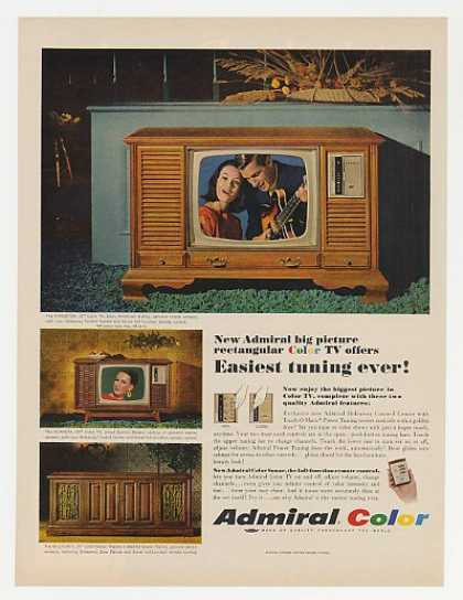 Admiral Kingston Scandia Bellforte Color TV (1967)