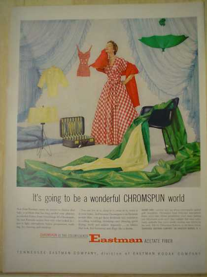Eastman Kodak Acetate fiber. A wonderful Chromspun world (1953)