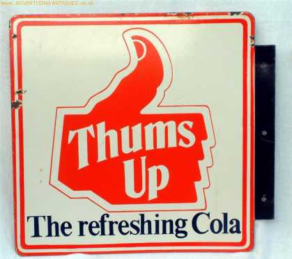 Thumbs Up Cola Enamel Sign