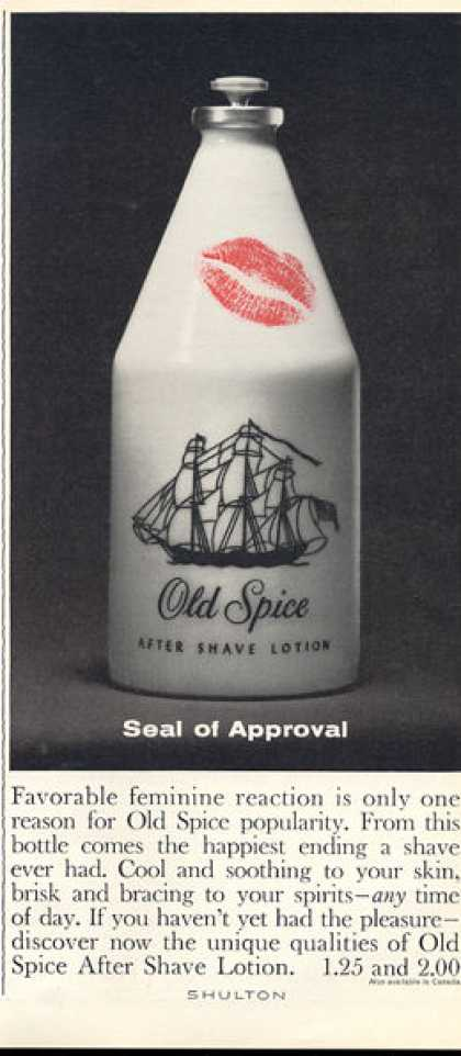Ols Spice After Shave Lotion Bottle (1963)