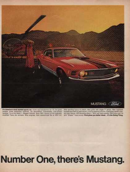 Ford Red Mustang Print Ad Number One (1969)