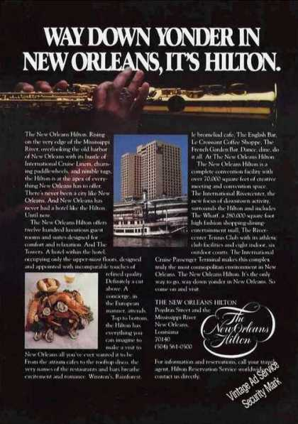 "New Orleans Hilton Photo ""Way Down Yonder"" (1977)"