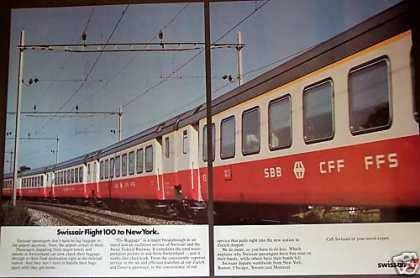 Train at Zurich Airport Swissair (1980)