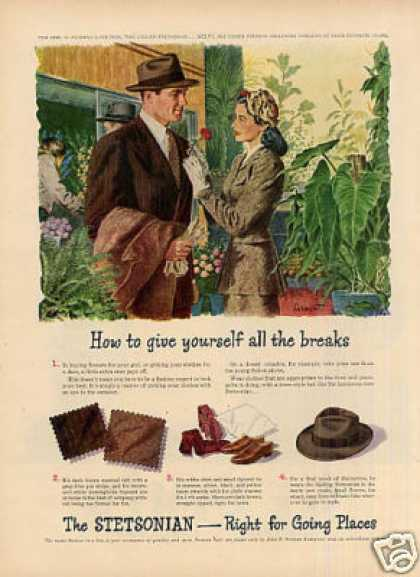 "Stetson Hat Ad ""How To Give Yourself... (1946)"