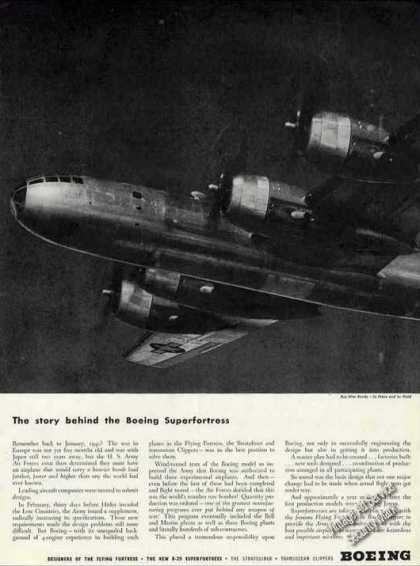 Boeing B-29 Superfortress Nice Wwii Photo (1944)