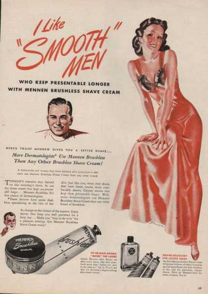Mennen Brushless Shave Smooth Men (1946)