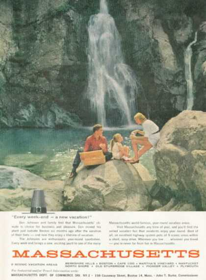 Massachusetts Travel Waterfall (1959)