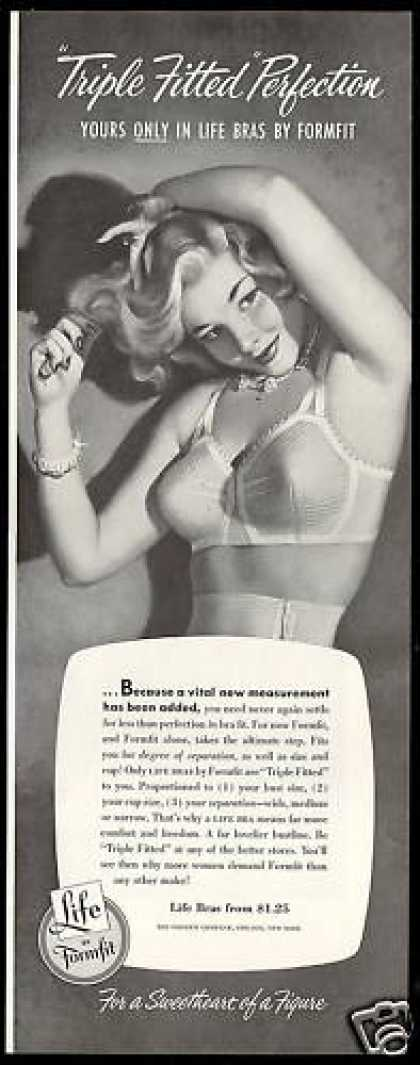 Formfit Life Bra Fitted Perfection Lingerie (1952)