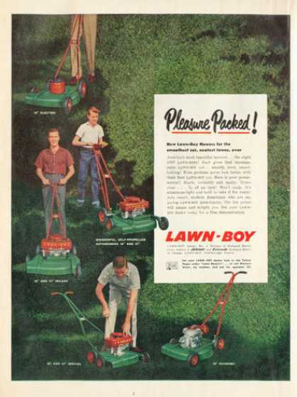 Lawn Boy Lawnmower 5 Models (1957)