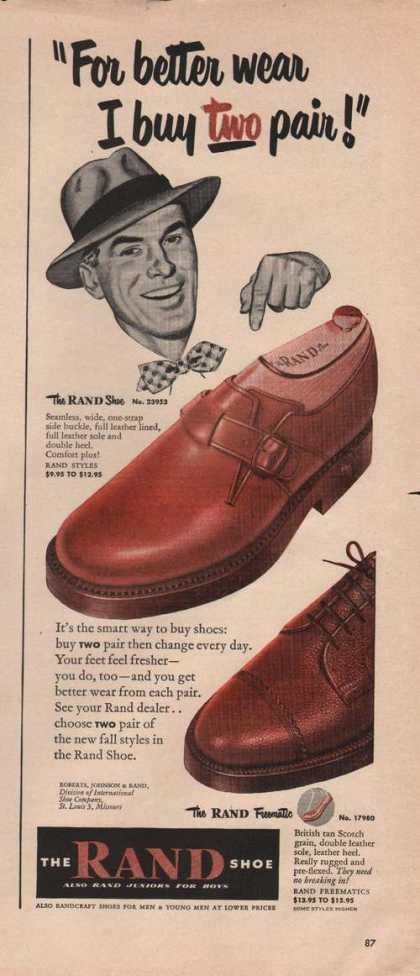 Rand Freematic Mens Shoes (1949)