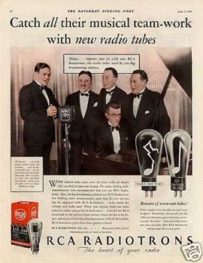 Rca Radiotrons Ad the Revelers (1931)