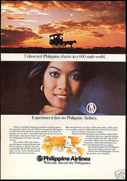 Philippine Airlines Stewardess Horse Wagon (1978)