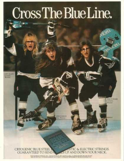 J Allen J Dixon E Turner Warrant Hockey Markley (1990)